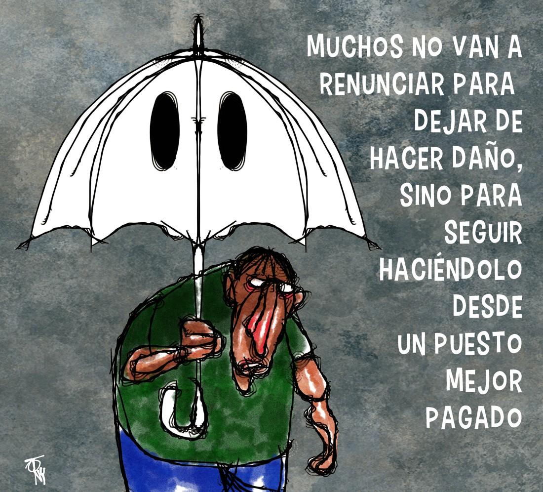 lluvia de renunciantes